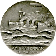 Medal - Admiral Franz Ritter von Hipper and his victory at Skagerrak – reverse