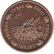 1 Cent (Jersey Euro Fantasy Token) – obverse