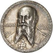 Medal - Großadmiral Alfred von Tirpitz – obverse