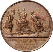Medal - The fire of Copenhagen (Bronze) – reverse