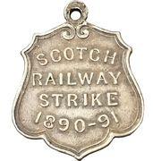 Medal - Amalgamated Society of Railway Servants Scotch railway strike – reverse