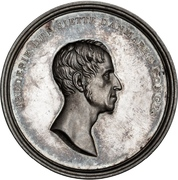 Medal - Frederik VI (Recovery from disease) – obverse