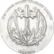 Medal - 25th anniversary of the Mond Nickel Company – reverse