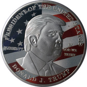 1 oz Silver (Mr. President Collector's Choice - Donald Trump) – obverse