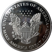1 oz Silver (Mr. President Collector's Choice - Donald Trump) – reverse