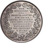 Medal - Golden jubilee of Professor J. G. C. Adler (Silver) – reverse