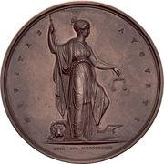 Medal - Frederik VI (Abolishing serfdom) – reverse