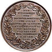 Medal - Golden jubilee of Professor J. G. C. Adler (Bronze) – reverse