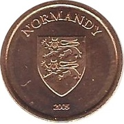 1 Cent (Normandy) – obverse