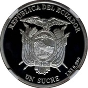 1 Sucre (Massacre of the Fathers of Independence) – obverse