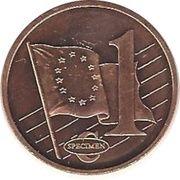 1 Cent (Slovenia Euro Fantasy Token) – reverse