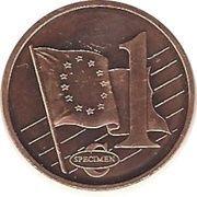 1 Cent (Turkey Euro Fantasy Token) – reverse