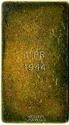 Prize plaquette - IFS – reverse