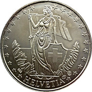 1 oz Silver (Silber Unze - Helvetia) – reverse
