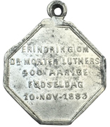 Medal - 400th anniversary of Martin luther – reverse