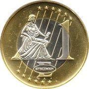 1 Euro (Denmark Euro Fantasy Token) – reverse