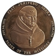 Medal - Fray Junipero Serra (The Mission Padre) – obverse