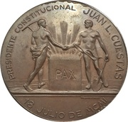 Medal - Inauguration of the port of Montevideo (Juan Lindolfo Cuestas) – obverse