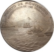 Medal - Inauguration of the port of Montevideo (Juan Lindolfo Cuestas) – reverse