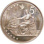 5 Euro (Denmark Euro Fantasy Token) – reverse