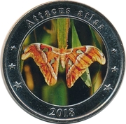 1 Dollar (Attacus atlas) – reverse