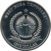 1 Dollar (Argema mittrei) – obverse