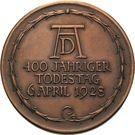 Medal - Albrecht Dürer (400 years of death) – reverse