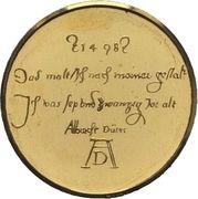 Medal - Albrecht Durer (Karlsruhe; 500 anniversary) – reverse