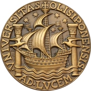 Medal - University of Lisbon rennovations – obverse