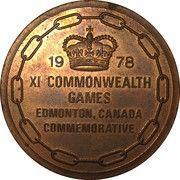 Participants Medal (1978 Edmonton Commonwealth Games) – obverse