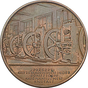 Medal - Establishment of the minting room at the Prussian state mint – reverse