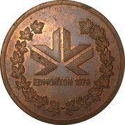 Participants Medal (1978 Edmonton Commonwealth Games) – reverse