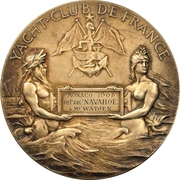 Prize medal - Yacht Club of France – obverse