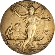 Prize medal - Yacht Club of France – reverse