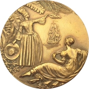 """Medal - Compagnie Generale Transatlantique """"Antilles"""" (Type 2) – reverse"""