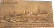 """Plaquette - Hospital and fishing support ship """"Gil Eannes"""" – obverse"""