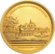 Medal - Opening of the train line Genua to Arona – obverse