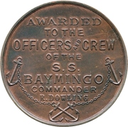 Medal - Kara Sea Expedition and the SS Baymingo – reverse