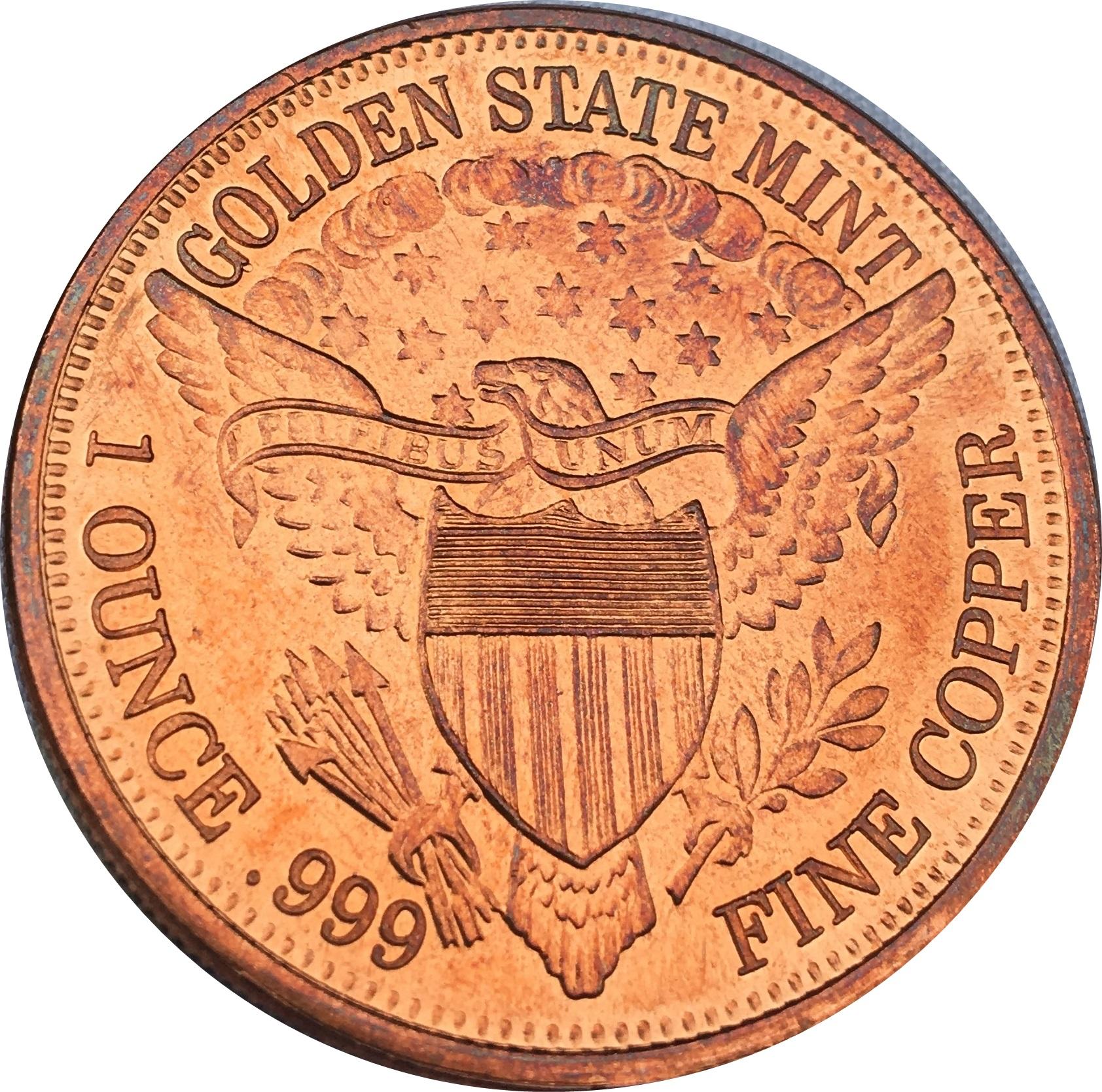 1 OZ .BU.COPPER ROUND STATUE OF LIBERTY