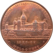Medal - The Australian Bicentenary (Royal Exhibition Building, Melbourne) – obverse