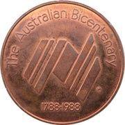 Medal - The Australian Bicentenary (Royal Exhibition Building, Melbourne) – reverse