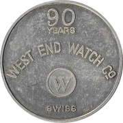 West End Watch Co. Medal (90th Anniversary - Kuwait 15th National Day) – reverse
