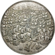 Medal - Spanish fleet destroyed by the Dutch off Dover – obverse