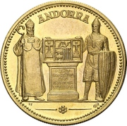 Medal - 700th Anniversary of the constitution (Segon Pareatge) – obverse