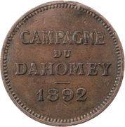 Medal - Dahomey campaign – reverse