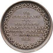 Medal - William Dummer Powell and Anne Murray, Golden Wedding (Upper Canada) – reverse