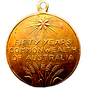 Medal - Commonwealth of Australia 50 years – reverse