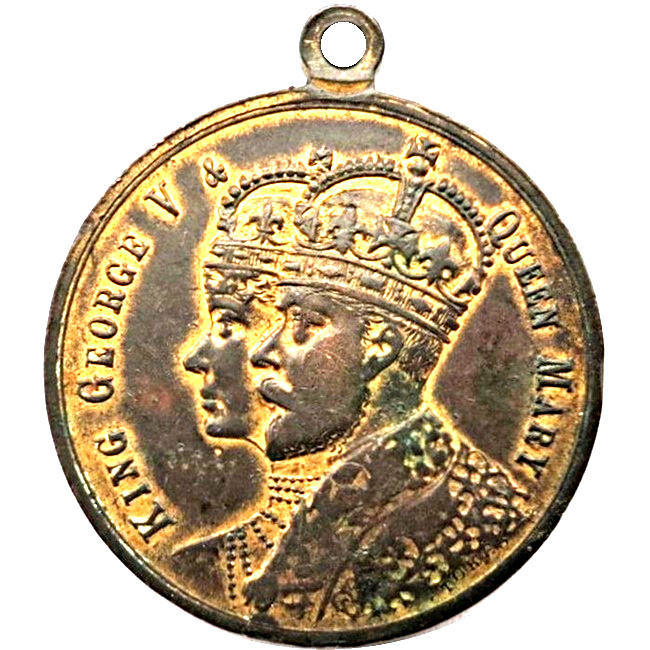 king george v and queen mary coronation coin