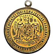 Medal - Coronation of King George V & Queen Mary (Victoria) – reverse
