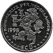 ECU - Beatrix (The Treaty of Munster) -  obverse